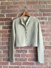 Vintage Agnes b. Women's Sweater, Cropped Cardigan, Sz 3 France Mohair/Wool/Poly