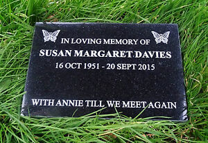 Engraved Natural Granite Memorial Plaque Grave Marker Headstone 30cm x 30cm