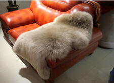 Real Australian Single One Pelt Sheepskin Light Brown 2x3 Rug Lamb Rug US stock