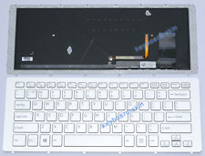 New Sony 149265311US AEFI3U000203A 9Z.NABBQ.801 laptop keyboard backlit silver