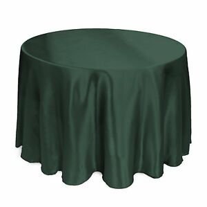 """7 PACKS 120"""" inch Round SATIN Tablecloth WEDDING 25 COLOR 5' Ft table USA SALE"""