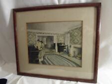 wood picture frame, 11 by 13 inches, Colonial interior print  # 1284