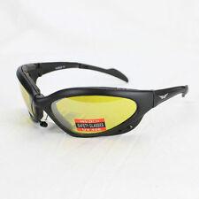 Biker Chopper Fahrrad Sport Brille Sonnenbrille Splitterfrei Gelb Verspiegelt