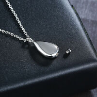 Womens Teardrop Pendant Necklace Ash Urn Cremation Box Memorial Free Engraving