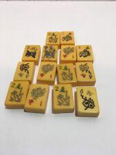 14 Vintage Bakelite Mahjong Tiles