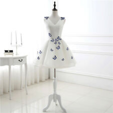 Sleeveless Butterfly Embroidered Short Formal Evening Party Prom Dress Custom