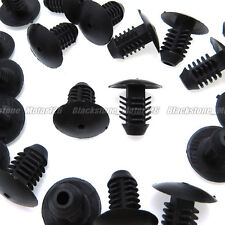 25 Fits 10mm Hole Auto Clip Plastic Rivet X-Mas Tree Fastener Bumper Fender Trim