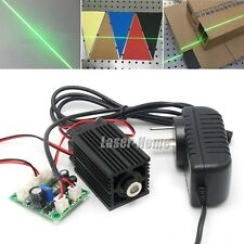 532nm 50mW Green Focusable Line Laser Diode Module TTL/Driver +Fan +12V Adapter