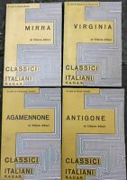 Lotto 4 libri tragedie vITTORIO Alfieri MIRRA AGAMENNONE ANTIGONE VIRGINIA