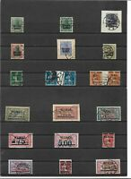 Memel, Litauen 1920-1922, Einzelwerte aus MiNrn: 1 - 118 o, geprüft Haslau BPP