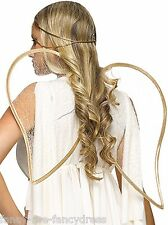 Ladies Gold Christmas Angel Wings and Hairband Fancy Dress Costume Kit Outfit