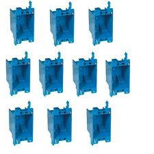 "10-Pc 14"" Single-Gang Wall Outlet Switch Old-Work Plastic Electrical Box Remodel"