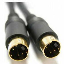 10M, 4 Pin Mini Din Enchufe para conectar cable de video, S-Video/SVHS Plomo Negro