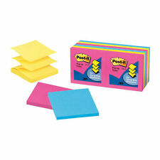 "Post-it Pop-up Sticky Notes, Neon Collection 3""x3"" PK12 R330-12AN Total 1200"