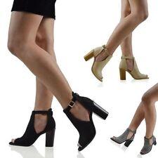Peep Toes Faux Suede Formal Heels for Women