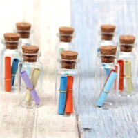 10pcs Mini Perfume Bottle Small Bottle Oil Container Necklace Accessory Set
