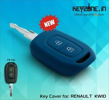 Keyzone Silicone Car Key Cover fit for Renault Duster 2016 remote key (blue)