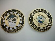 CHICAGO POLICE  SKULL HEAD CHALLENGE COIN