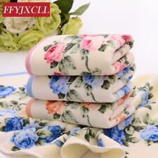 Cotton Face Towel 3 Color Floral Bath Sports Towel New Hot 4pcs/lot 34*76cm 100%