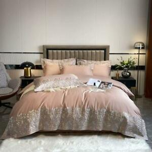 bedding set 4pcs Luxury 100s classic digital printing quilt cover flat sheet set