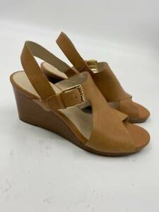 New Cole Haan womens Philomina grand wedge sandals open toe brown Sz 7 A-188