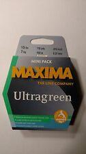 maxima ultragreen mini pack 15# 110yds. New Unopened