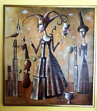Composition by Dmitry Zenkovich Original Oil on canvas signed by the artist 1997