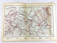 1902 Ancien Chemin de Fer Carte De Suisse Zurich Lucerne Suisse Railroad Routes