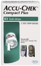 Accu Chek Compact Plus Blood Glucose Test Strips, 102 Count
