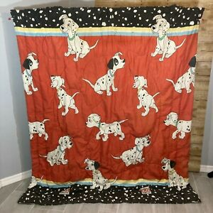 Vintage 101 Dalmations Comforter Blanket Twin Size Dogs 1990s