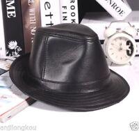 100% True Schaffell / Rindsleder Leder Hohe Qualität Der Hut eines Gentleman