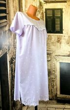 Vintage BHS lilac sexy sissy broad anglais nightie gown UK 12-14 Eu 40-42 R16973