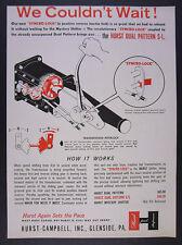 1962 Hurst Dual Pattern SL Syncro-Lock Shifter vintage print Ad