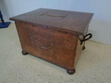Arts & Crafts Copper Coal / Wood Box