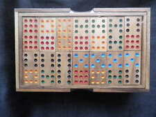 Beautiful Double 9 large wooden Dominoes Set, handmade, new & sealed, wooden box