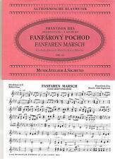 Blasmusiknoten Fanfaren Marsch / Fanfarovy pochod