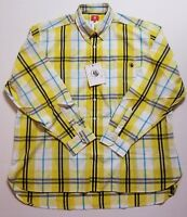 Men's Southern Proper Button Down Shirt Yellow Plaid Long Sleeve L XL NWT FAST