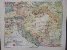Landkarte Geologische Karte von Österreich - Ungarn, Meyer 1896