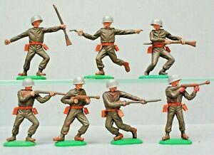 Timpo Toys 'Swoppet' Series 6 Khaki Soldiers 1960's ~ FULL Set...!!