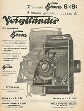 Y1284 Voigtlander - Il nuovo BESSA 6 x 9 - Illustrazione- Pubblicità 1931 - Adv.