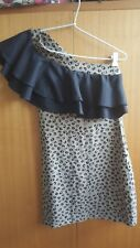 Lovely FINDERS KEEPERS over one shoulder dress with frilly trim (size 8)