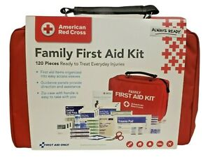 American Red Cross Family First Aid Kit 120 Count Official License Product New