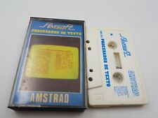 CASSETTE AMSOFT PROCESADOR DE TEXTO AMC-502 AMSTRAD CPC 464.COMBINO ENVIO