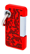 New listing ST DUPONT HOOKED JET CIGAR LIGHTER W KEY RING LACQUER RED 032012 32012 KAMASUTRA