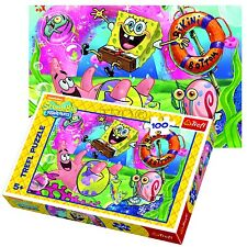 Trefl 100 piezas Niños Unisex Nickelodeon Spongebob Squarepants Rompecabezas Nuevo