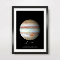 PLANET JUPITER Art Print Poster Home Decor A4 A3 A2 Outer Space Milky Way