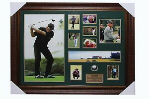 Greg Norman Signed Photo with Golf Ball, Poster and Frame