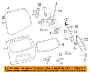 TOYOTA OEM Liftgate Tailgate Hatch-Lift Support Strut Shock Bolt 9008010387