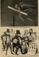 Political cartoon telegraph California Jefferson Davis 1861 Harper's Weekly