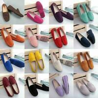 Womens pumps on Suede Ladies Shoes Slip Loafers Moccasins leather Flats Driving